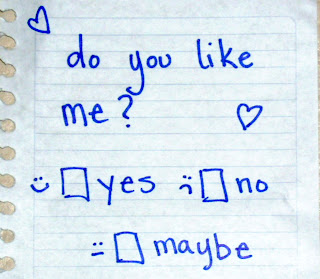 do you like me  check yes or no