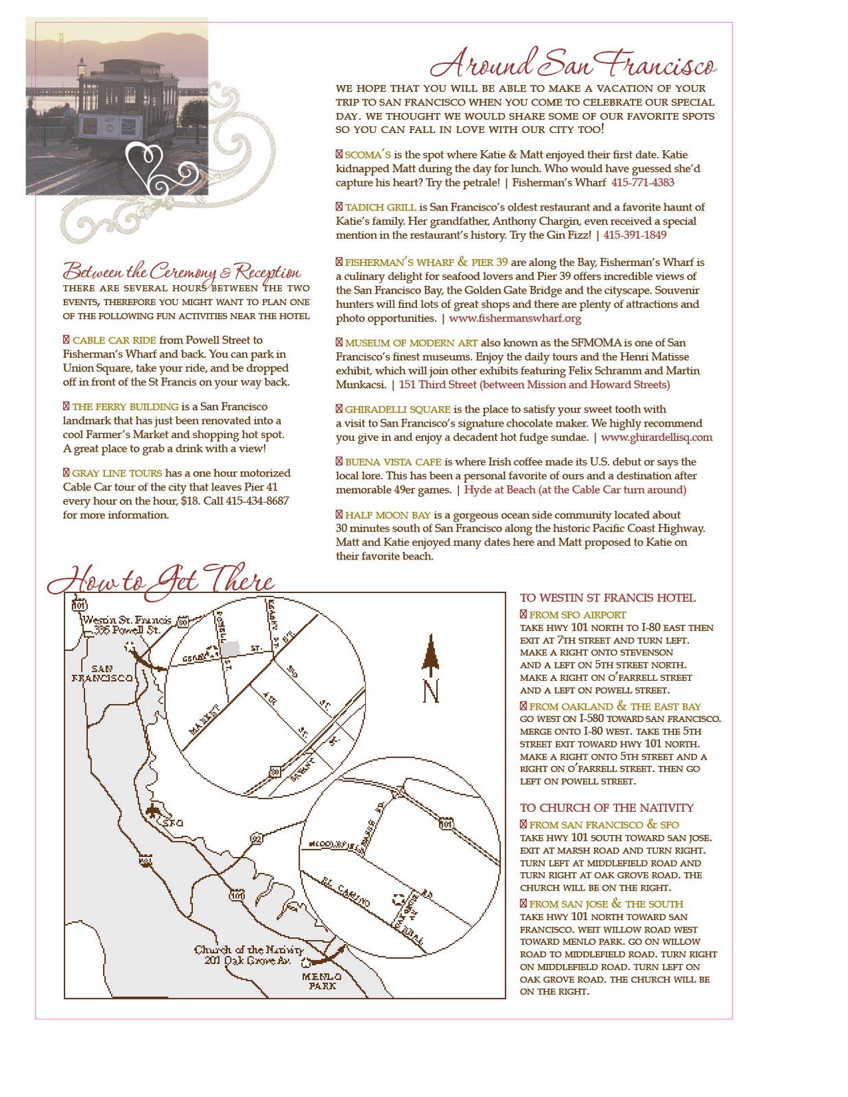 stacey & company: around town | custom wedding maps