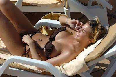 gemma atkinson sunbathing