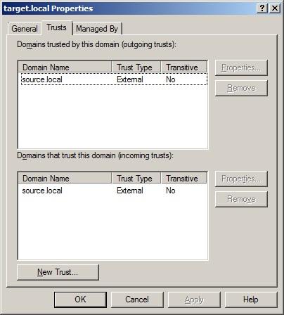 Создание доверительных отношений между доменами