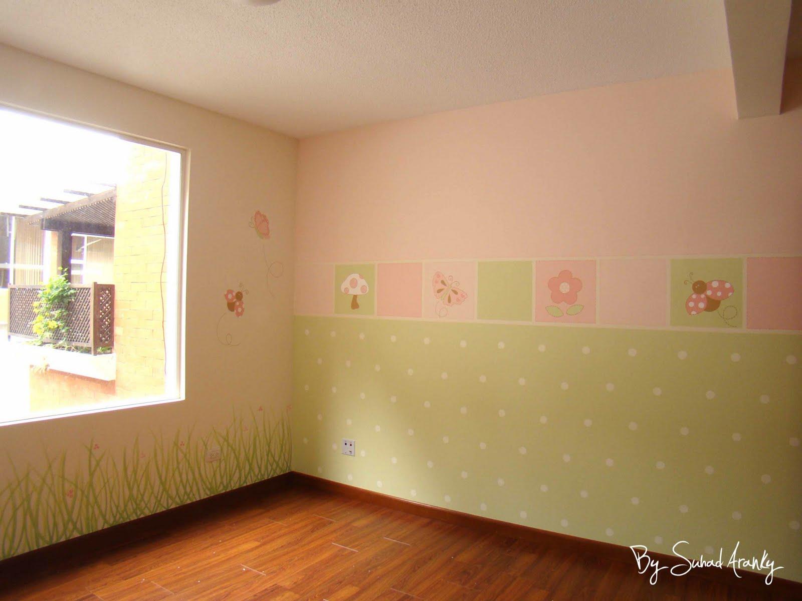 Murales en Dormitorios: Cuarto de niña (Insectos)