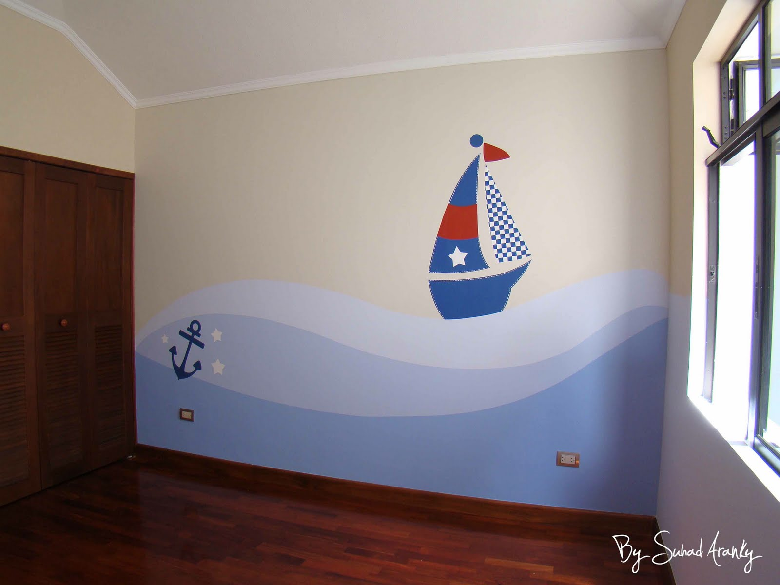 Murales en dormitorios - Habitaciones infantiles ninos 4 anos ...