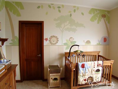 Murales en dormitorios cuarto beb selva for Cuartos para nina bebe