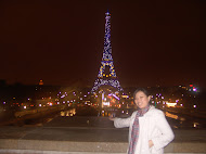 Eiffel Tower Night View with Cindy
