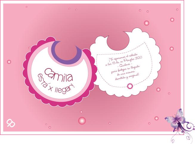 CIRUELA Tarjeteria y Cotillon personalizados: Tarjetas Baby Shower