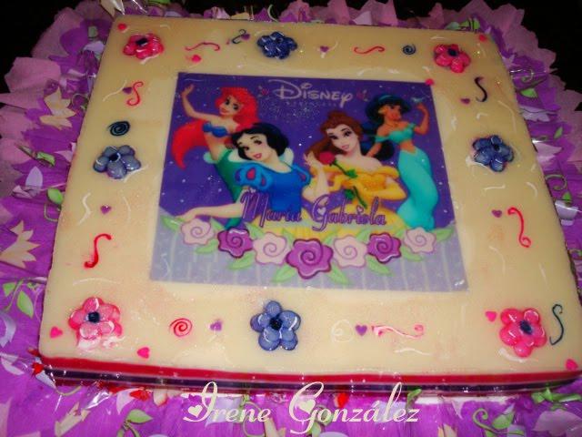 Gelatina decorada de las princesas - Imagui