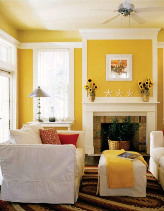 Home decoration idea living room colors 03 for Living room yellow walls