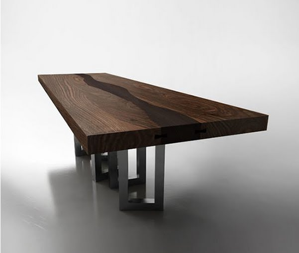 Walnut wood table by il pezzo mancante luxury wood table Luxury wood furniture