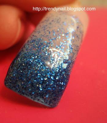 Tutorial French Sfumata Con Glitter Blue Creata Con Smalti Glitter