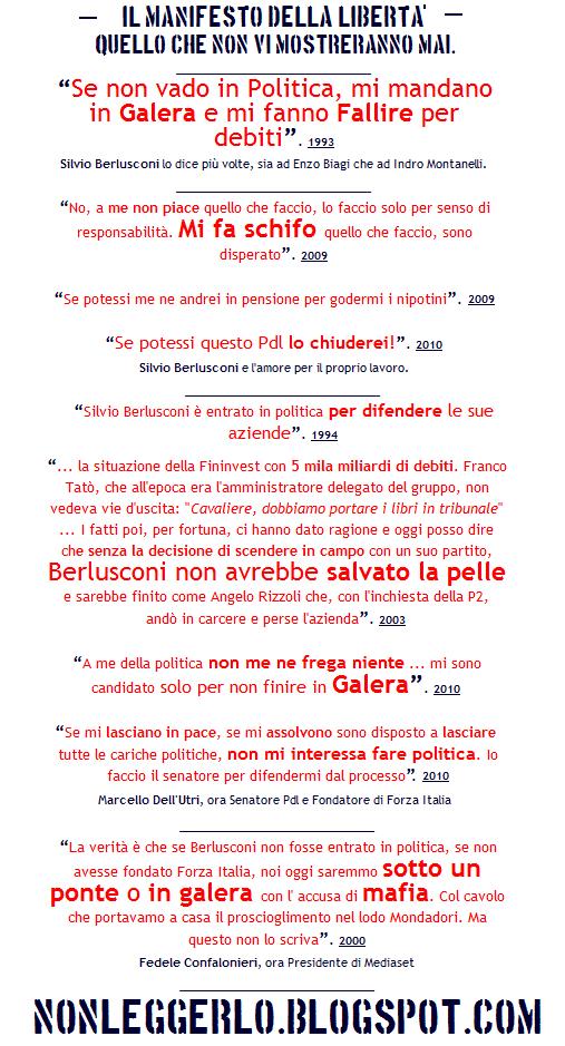alcune perle di Berlusconi e Dell'Utri