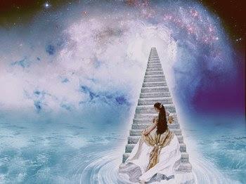 escalera+cielo+mujer