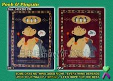 Blanket Pooh & Pinguin 140x200