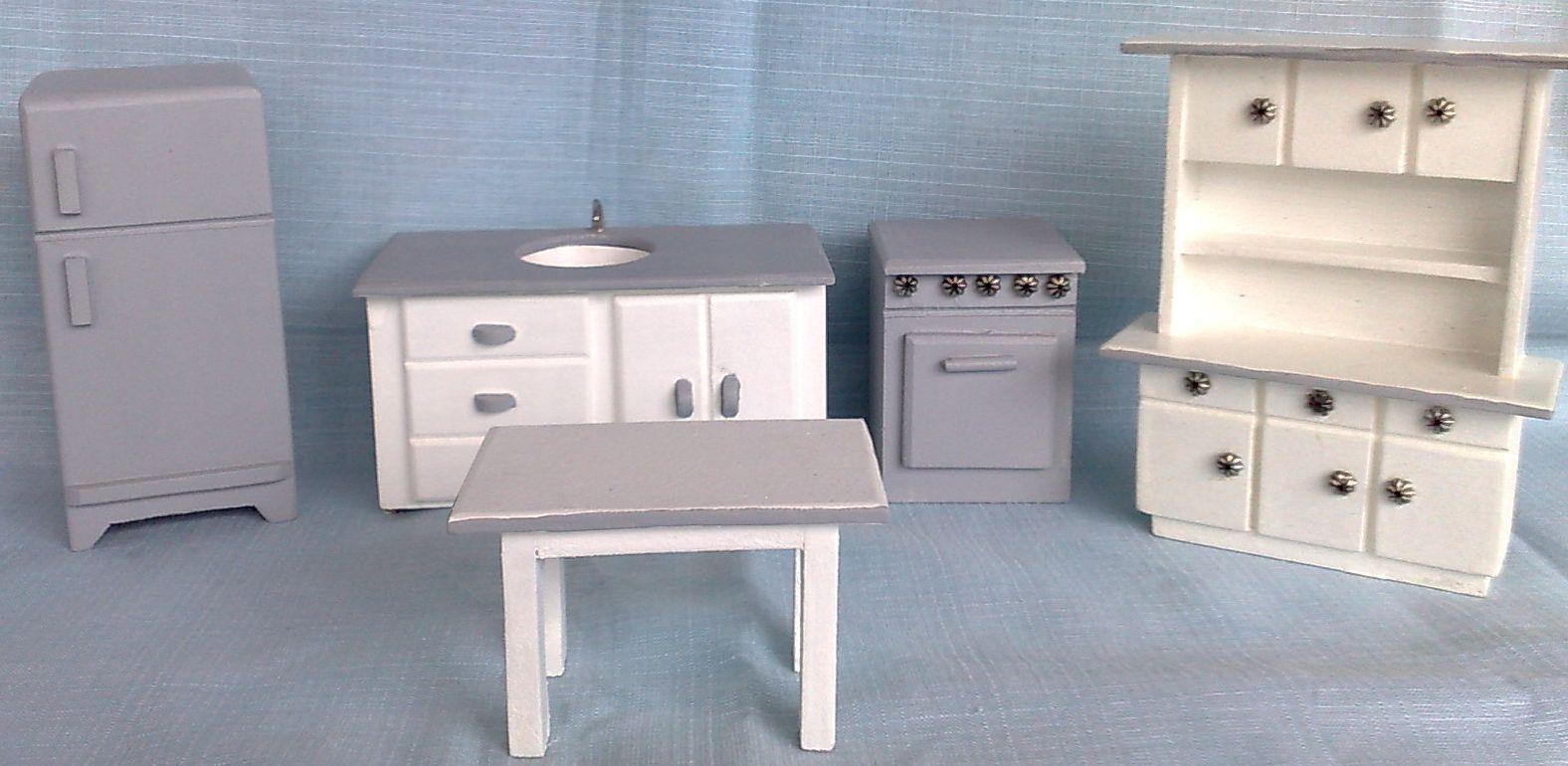 lindo kit de móveis de madeira mdf 5 mm para a casa da boneca #51637A 1576x770