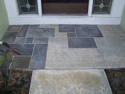 Chalk It Up Faux Slate Walkway Step By Step