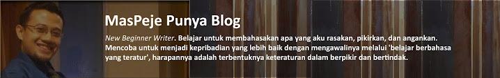 MasPeje Punya Blog