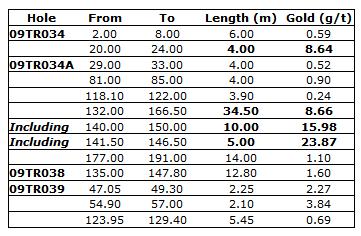 Oro Gold Drill Results