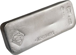 Bullion Johnson Matthey 100 Ounce Silver Bar - Copyright © 2009 Northwest Territorial Mint