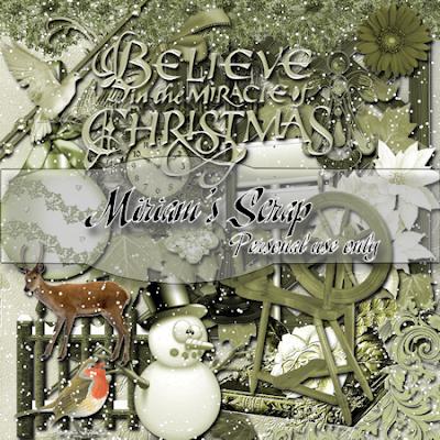 Free scrapbook christmas kit 2 from Miriams-scrap