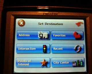 Nextar X3-11 destination screen