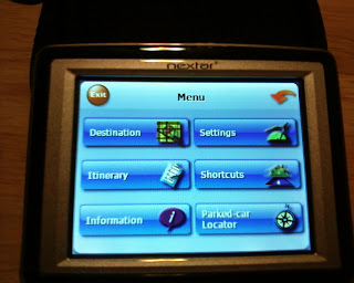 Nextar X3-11 menu screen
