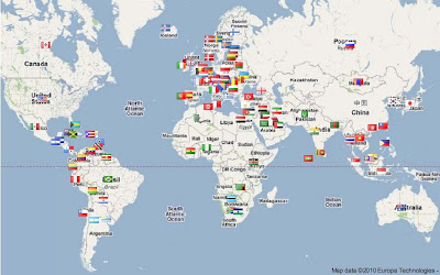 flag map of blog visitors