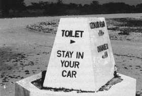 toilet stay in car