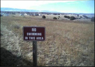 no swimming in this area