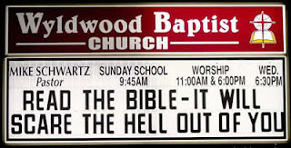 Bible will scare the hell out of you