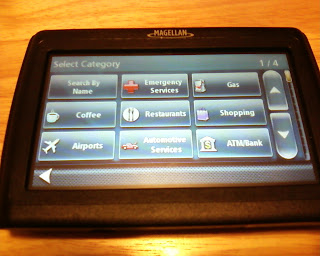 Magellan SE4 GPS Points Of Interest Screen