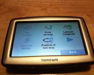 TomTom XL 330S Navigate To Screen
