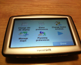 TomTom XL 330S Setup Screen