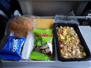 Lunch on flight