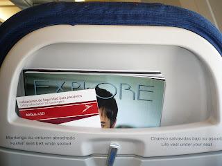TACA A321 seat back pocket