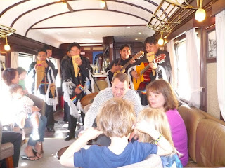 Live music show on Andean Explorer