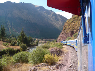 Andean Explorer along with mountain