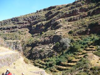 Mountainside cemetery, Inca Pisac