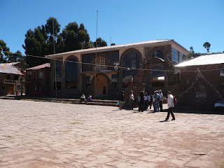 Main square of Taquile