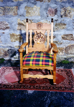 Clan Buchanan chair in Scottish oak.