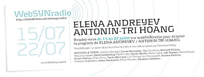 elena andreyev websynradio600 Elena Andreyev et Antonin Tri Hoang : ping pong musical sur webSYNradio