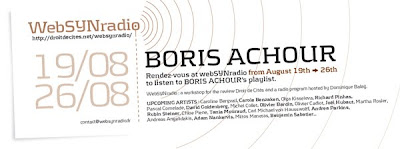 boris achour websynradio english600 Le choix sonore de Boris Achour pour webSYNradio