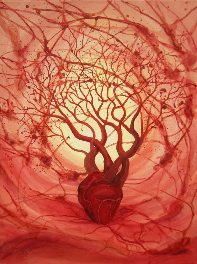 Human Heart Painting Related Keywords - Human Heart ...