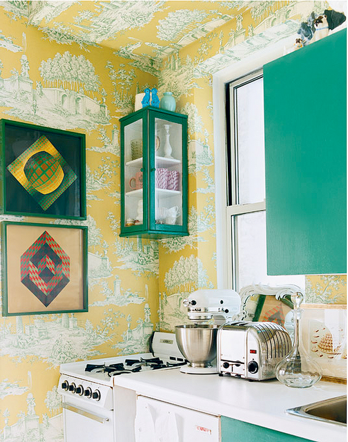 Green And Yellow Kitchens