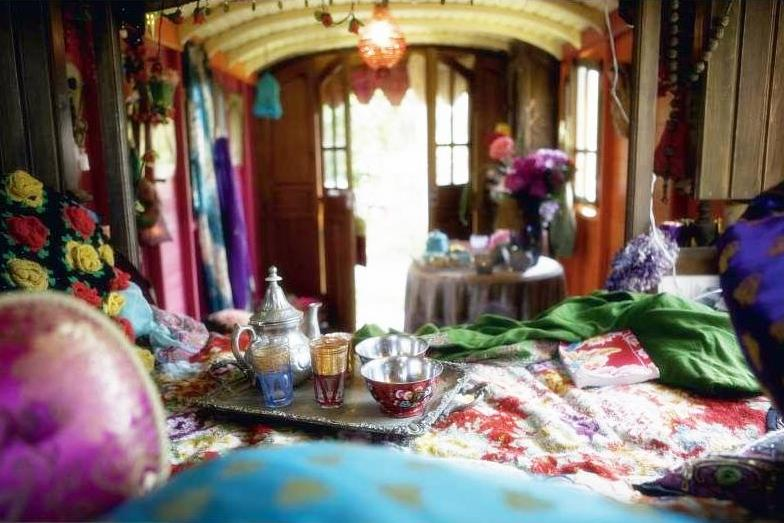 Innovative  Art Design And Fashion Gypsy Caravan Wagon Interior Decorating