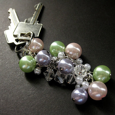 Handmade Beaded Key Ring