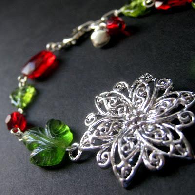Christmas Poinsettia Bracelet
