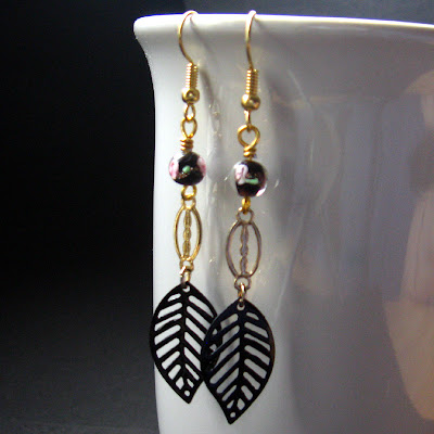 Dancing Leaves Handmade Duster Earrings