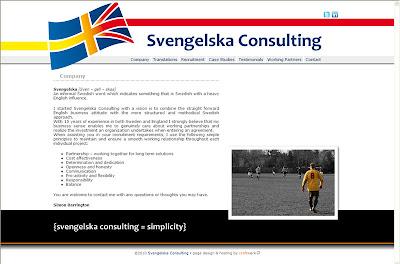svengelska consulting homepage design
