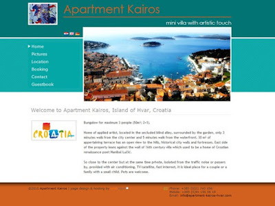apartment kairos hvar website