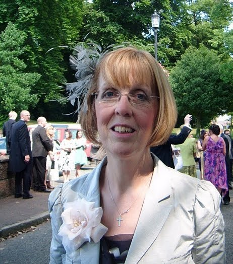 Me at Lucy's Wedding. The sun does shine in England!