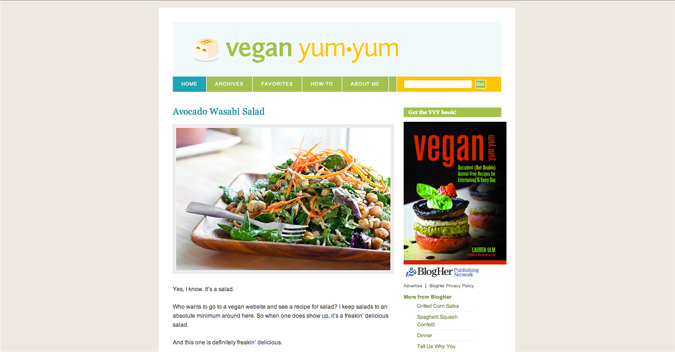 A billion tastes and tunes my favorite cooking recipe blogs vegan yum yum is one of the first food blogs i read regularly and ive even gone back and read all of her archives she doesnt post very frequently any forumfinder Gallery